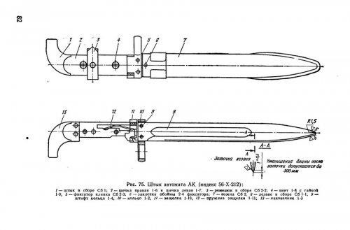 6Х1 - штык-нож для автомата