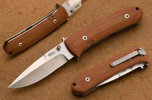 Bob Dozier (Dozier Knives) - DK-3 Fighter, Natural Micarta.jpg