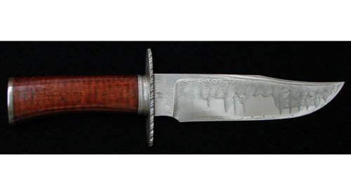 Keith Kilby Damascus & Ironwood Bowie 2.jpg
