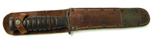 U.S. M-3 fighting knife with scabbard. Made by Utica Cutlery 1.jpg