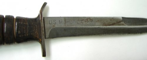 U.S. M-3 fighting knife with scabbard. Made by Utica Cutlery 3.jpg