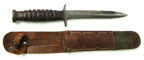 U.S. M-3 fighting knife with scabbard. Made by Utica Cutlery 2.jpg