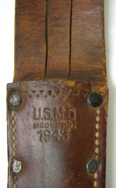 U.S. M-3 fighting knife with scabbard. Made by Utica Cutlery 5.jpg