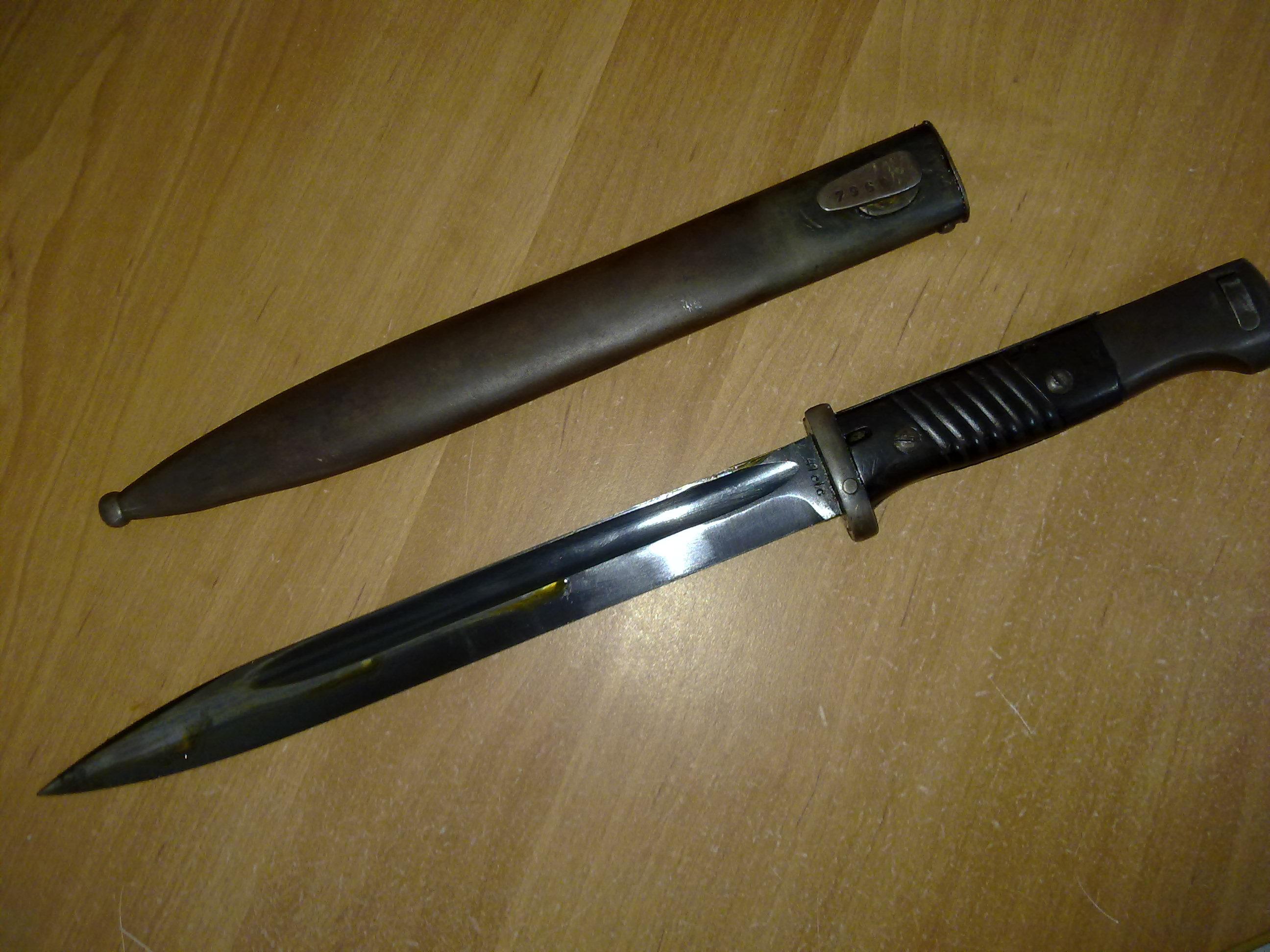 фотография немецкого штык ножа расписные