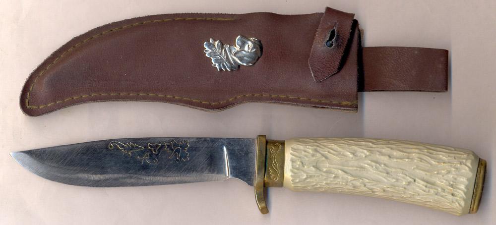 Советский охотничий нож с номером значок ру