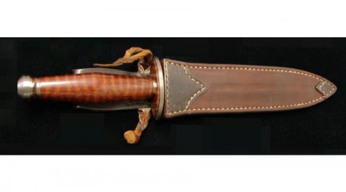 Scott Cook Damascus and Snakewood Dagger 6.jpg