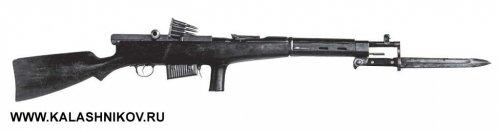 автомат Федорова модели 1919 г. (6,5-мм) с магазином на 10 патронов и штыком. Фото техноцентр ЗиД.jpg