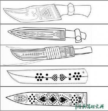Типы ножен уйгурских ножей.jpg