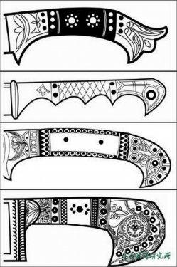 Типы рукоятей уйгурских ножей 2.jpg