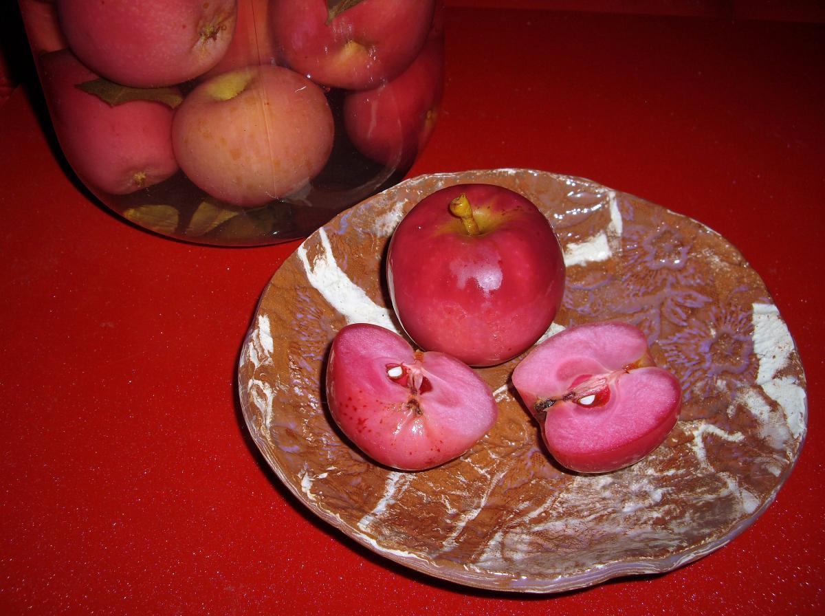 Яблоки моченые с мукой
