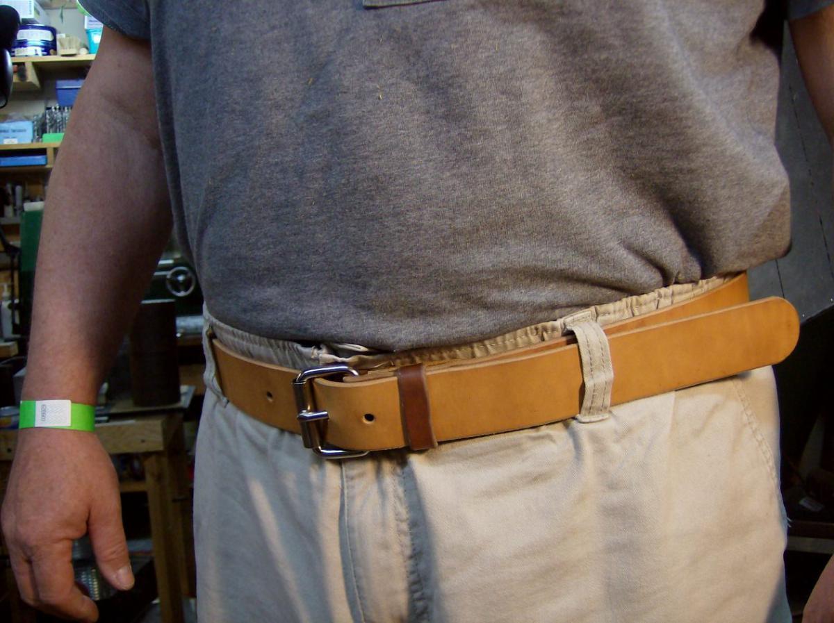Как укоротить обрезать сделать меньше кожаный ремень 76