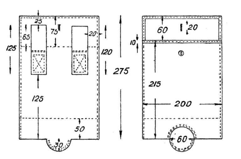 Чехол для саперной лопатки схема